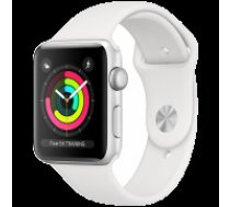 Apple Watch Series 3 GPS, 38mm Silver Aluminium Case with White Sport Band, Model A1858
