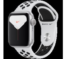 Apple Watch Nike Series 5 GPS, 40mm Silver Aluminium Case with Pure Platinum/Black Nike Sport Band Model nr A2092