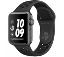 Nike + Series 3 GPS Watch, 38mm Space Gray Aluminum Case with Anthracite / Black Nike Sport Band