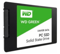 SSD | WESTERN DIGITAL | Green | 120GB | SATA 3.0 | TLC | Read speed 545 MBytes/sec | 2,5"