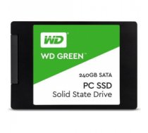 "SSD | WESTERN DIGITAL | Green | 240GB | SATA 3.0 | TLC | Read speed 545 MBytes/sec | 2,5"" | MTBF 1000000 hours | WDS240G2G0A"