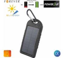 Forever PB-016 Gaismas uzlādes Power Bank 5000mAh  Ārējas uzlādes batereja 2x USB 5V 1A Ligzdas Ūdensizturīgs Melns