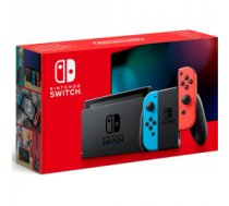Nintendo Switch with Neon Red and Blue Joy-Con - New Version