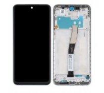 LCD displejs ekrāns Xiaomi Redmi Note 9S ar skārienekrānu ar rāmi, oriģināls melns (service pack)