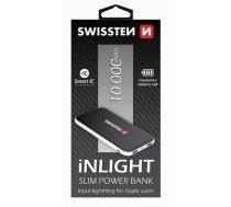 SWISSTEN - Swissten iNLIGHT Premium Recovery Power Banka Universāla Ārējas uzlādes batereja 2.1A / USB / 10000 mAh Melna - SW-PWB-INL-10000