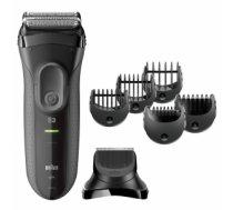Braun 3000BT beard trimmer Wet & Dry Black, Grey