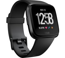 Fitbit Versa Smart watch, NFC, Color LCD, Touchscreen, Heart rate monitor, Activity monitoring 24/7, Bluetooth, Gray/Silver Aluminum FB505SRGY-EU