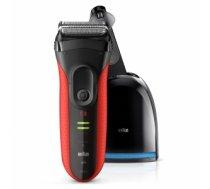 Braun Series 3 3050cc Foil shaver Trimmer Black, Red