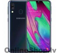 "SAMSUNG Galaxy A40 Black, 5.9 "", Super AMOLED, 1080 x 2340, Exynos 7904, Internal RAM 4 GB, 64 GB, MicroSD, Dual SIM, Nano-SIM, 3G, 4G, Main camera 16+5 MP, Secondary camera 25 MP, Android, 9.0, 3100 mAh"