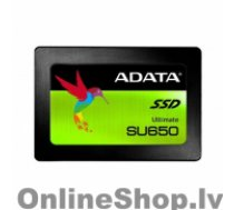 "ADATA Ultimate SU650 ASU650SS-240GT-R 240 GB, SSD form factor 2.5"", SSD interface SATA, Write speed 450 MB/s, Read speed 520 MB/s"
