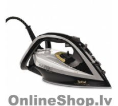 TEFAL Turbo Pro Iron FV5655E0 Grey/ black, 2600 W, Steam iron, Continuous steam 50 g/min, Steam boost performance 220 g/min, Anti-drip function, Anti-scale system, Vertical steam function, Water tank capacity 300 ml