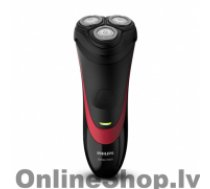 PHILIPS S1310 Warranty 24 month(s), Rechargeable, Charging time 8 h, Lithium-Ion (Li-Ion), Battery life 35 min; 11 shaves h, Number of shaver heads/blades 3, Black, Red