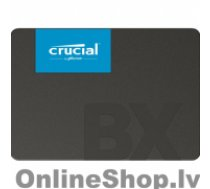 "CRUCIAL BX500 120 GB, SSD form factor 2.5"", SSD interface SATA, Write speed 500 MB/s, Read speed 540 MB/s"