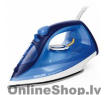 PHILIPS Iron EasySpeed Plus Blue, 2100 W, Steam iron, Continuous steam 30 g/min, Steam boost performance 110 g/min, Anti-drip function, Anti-scale system, Vertical steam function, Water tank capacity 270 ml