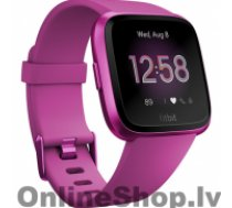 FITBIT Versa Lite Fitness Tracker FB415PMPM OLED, Mulberry, Touchscreen, Bluetooth, Built-in pedometer, Heart rate monitor, Waterproof