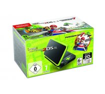 New Nintendo 2DS XL black Lime green incl. Mario Kart 7 video spēļu konsole