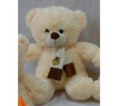 Plīša lācis 53 cm (M2990) baltais ar bruno | 128034-2