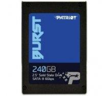 "PATRIOT BURST 240GB SSD, 2.5"" 7mm, SATA 6Gb/s, Read/Write: 550 / 500 MB/s,  Random Read/Write IOPS 80K/60K"