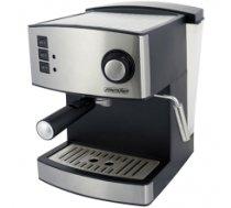 Mesko Espresso Machine MS 4403 Pump pressure 15 bar, Built-in milk frother, Drip, 850 W, Stainless steel/Black