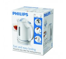 Philips HD4646/00 Standard kettle, Plastic, White, 2400 W, 360° rotational base, 1.5 L