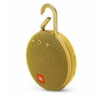 Portable Speaker|JBL|CLIP 3|Portable/Waterproof/Wireless|1xAudio-In|1xMicro-USB|Bluetooth|Yellow|JBLCLIP3YEL