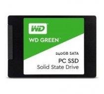 "SSD | WESTERN DIGITAL | Green | 240GB | USB 3.0 | TLC | Write speed 465 MBytes/sec | Read speed 540 MBytes/sec | 2,5"" | MTBF 1750000 hours | WDS240G2G0A"