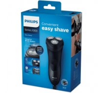 Philips 1000 series dry electric shaver Number of shaver heads/blades 3, Black
