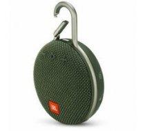Portable Speaker|JBL|CLIP 3|Portable/Waterproof/Wireless|1xAudio-In|1xMicro-USB|Bluetooth|Green|JBLCLIP3GRN
