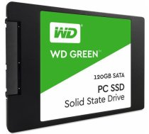 SSD | WESTERN DIGITAL | Green | 120GB | SATA 3.0 | TLC | Write speed 430 MBytes/sec | Read speed 540 MBytes/sec | 2,5"