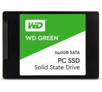 "SSD | WESTERN DIGITAL | Green | 240GB | USB 3.0 | TLC | Write speed 465 MBytes/sec | Read speed 540 MBytes/sec | 2,5"" | MTBF 1750000 hours | WDS240G2G0A WDS240G2G0A"