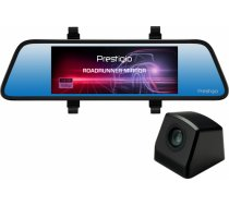 Car Video Recorder PRESTIGIO RoadRunner MIRROR (Front: FHD 1920x1080@30fps Rear: VGA640x480@30fps, 6.86 inch screen, MSC8328P, 4 MP CMOS GC2023 image sensor, 12 MP camera, 120° Viewing Angle, Micro USB, 500 mAh, Automatic Night Mode, Motion Detection, G-s PCDVRR405DL