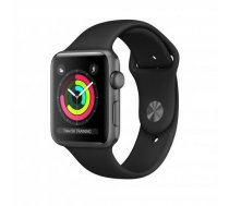 Apple Watch Series 3 GPS, 42mm Space Grey Aluminium Case with Black Sport Band MTF32