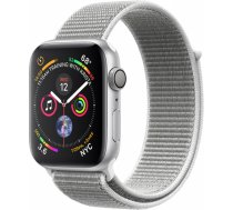Apple Watch Series 4 GPS, 40mm Silver Aluminium Case with Seashell Sport Loop, Model A1977 MU652UA/A