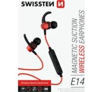Swissten Active Wireless Bluetooth 4.2 Earphones / A2DP / AVRCP / HSP / HFP / Bezvadu Sporta Austiņas Sarkanas SW-AC-SPHS-RD