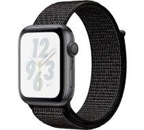 AppleWatch Nike+ Series4 GPS, 40mm Space Grey Aluminium Case with Black Nike Sport Loop, Model A1977 MU7G2UA/A