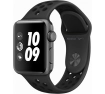 AppleWatch Nike+ Series 3 GPS, 38mm Space Grey Aluminium Case with Anthracite/Black Nike Sport Band, Model A1858 MTF12GK/A