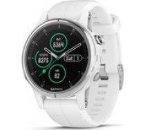 Garmin fenix 5S Plus,Sapphire,White w/White Band,GPS Watch,EMEA 010-01987-01