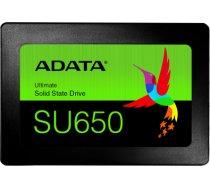 "ADATA Ultimate SU650 3D NAND SSD 960 GB, SSD form factor 2.5"", SSD interface SATA, Write speed 450 MB/s, Read speed 520 MB/s ASU650SS-960GT-R"
