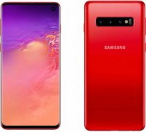 "Samsung Galaxy S10 Dual SIM Red 6.4"" Super AMOLED 1440x3040/2.0GHz&2.73GHz/128GB/8GB RAM/Android 9.0/microSD//WiFi-/ S10/RED/128GB///"