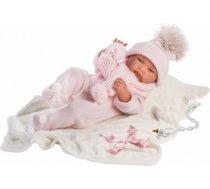 Llorens Lelle zīdainis Tina meitene ar spilvenu un mānekli (vinila ķermenis, kustina rokas un kājas) 43 cm Spānija LL84316 LL84316
