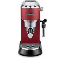 Delonghi Dedica Espresso Coffee Maker EC685.R Pump pressure 15 bar, Built-in milk frother, Semi-automatic, 1300 W, Red EC685R