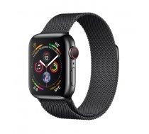 Apple Watch Series 4 GPS Cell 40mm Black Steel Black Loop ( MTVM2FD/A MTVM2FD/A MTVM2WB/A ) Viedais pulkstenis  smartwatch