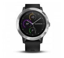 Garmin vivoactive 3  E EU  Black/Black Silicone  Stainless Steel ( 010 01769 02 010 01769 02 ) Viedais pulkstenis  smartwatch