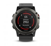 Garmin fenix 5X Sapphire - Slate grey with black band ( 010 01733 01 010 01733 01 010 01733 01 ) Viedais pulkstenis  smartwatch