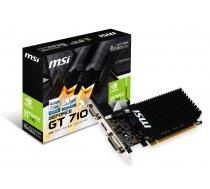 MSI GeForce GT 710 2GB DDR3 (64 bit) DVI  HDMI  D-Sub (V809-2000R) ( V809 2000R V809 2000R GT 710 2GD3H LP V809 2000R ) video karte