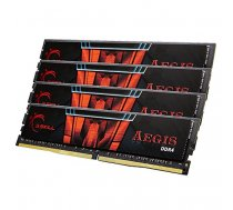 DDR4 64GB PC 2400 CL15 G.Skill KIT(4x16GB) 64GIS  Aegis  4 ( F4 2400C15Q 64GIS F4 2400C15Q 64GIS F4 2400C15Q 64GIS ) operatīvā atmiņa