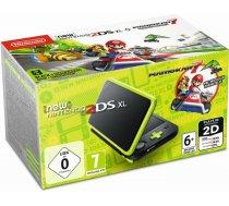 New Nintendo 2DS XL black Lime green incl. Mario Kart 7 ( 2219066 2219066 2219066 ) spēļu konsole