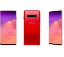 SAMSUNG Galaxy S10 128GB Red ( SM G973FZRDSEB SM G973FZGDDBT G973F/DS Cardinal red SM G973FZRDSEB SM G973FZRDXEO TKOSA1SMA1948 T MLX34172 ) Mobilais Telefons