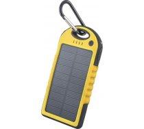 Forever PowerBank PB-016 Solar 5000mAh Yellow ( GSM011226 GSM011226 ) Powerbank  mobilā uzlādes iekārta