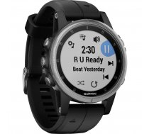 Garmin fenix 5S Plus Glass Silver/Black ( 010 01987 21 010 01987 21 010 01987 21 ) Viedais pulkstenis  smartwatch